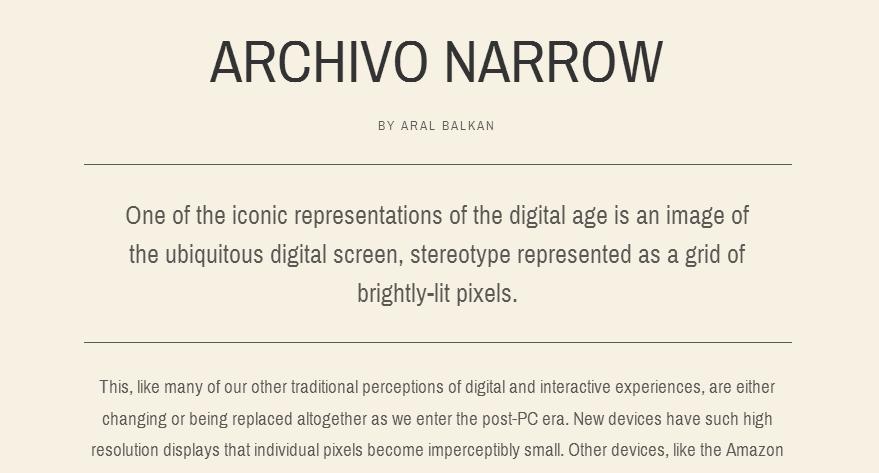 Archivo Narrow - Google Fonts