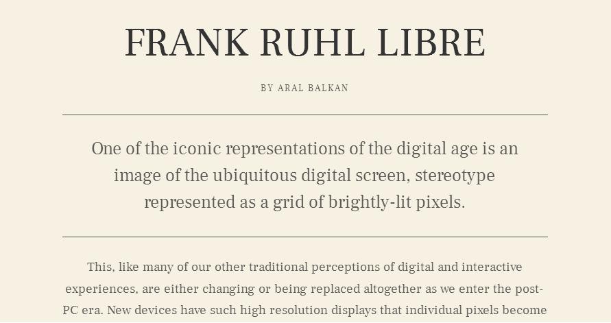 Frank Ruhl Libre - Google Fonts