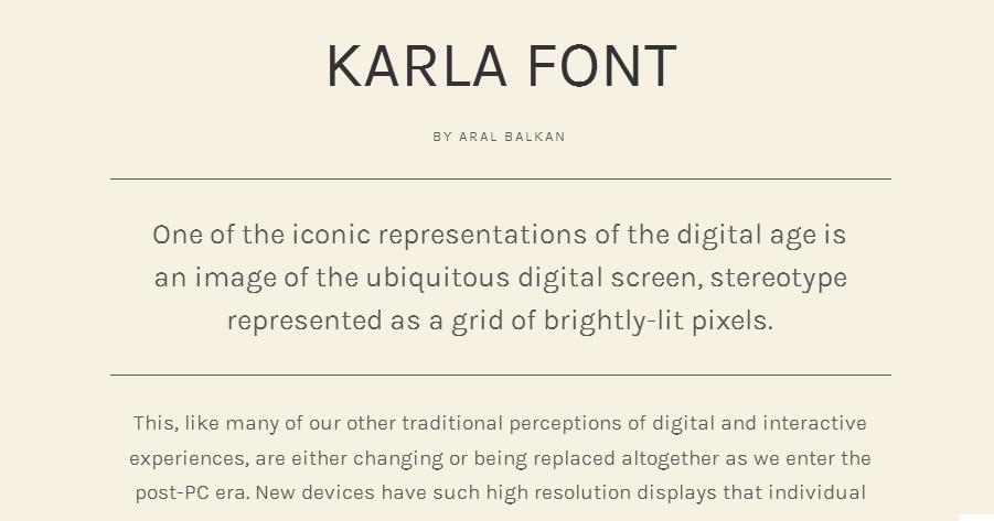 Karla - Google Fonts
