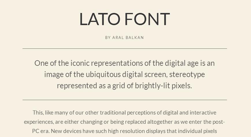 Lato - Google Fonts