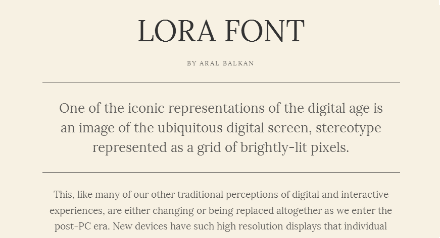 Lora - Google Fonts