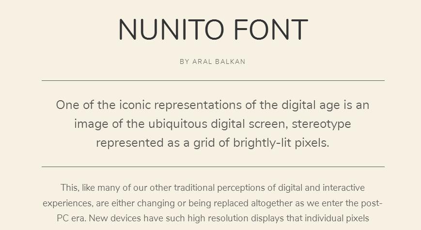 Nunito - Google Fonts