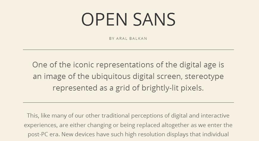 Open Sans - Google Fonts