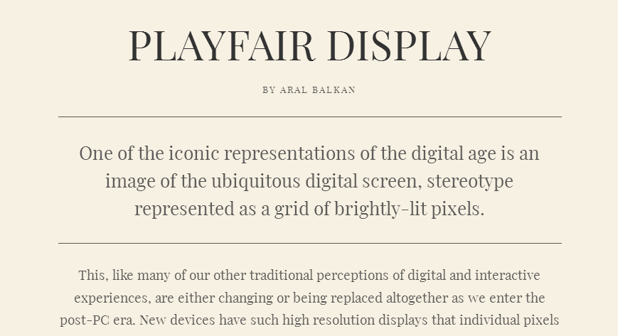 Playfair Display - Google Fonts