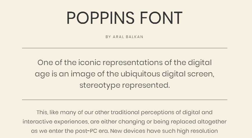 Poppins - Google Fonts