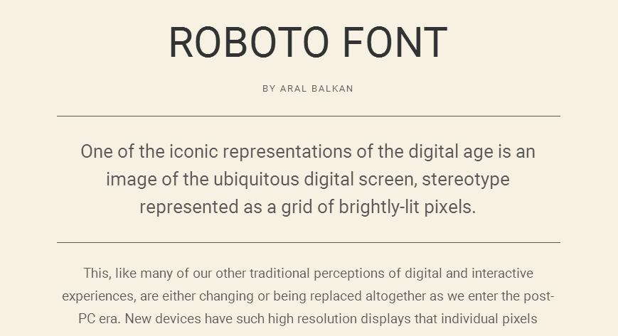 Roboto - Google Fonts