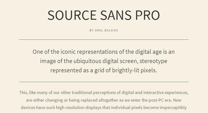 Source Sans Pro - Google Fonts